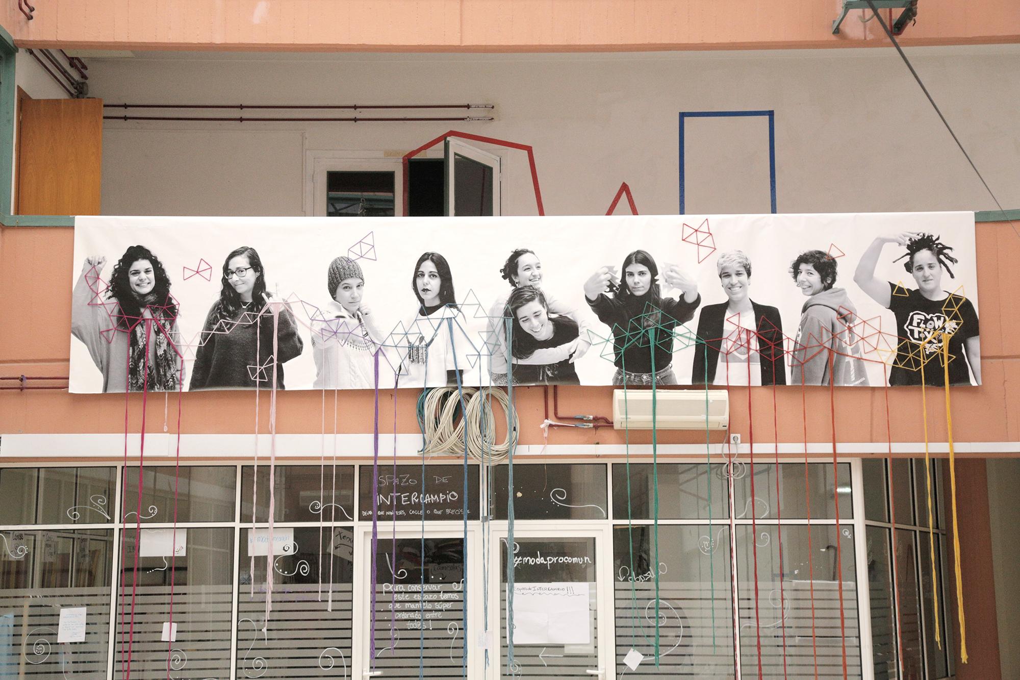 Instalación artística de Lorena Cosba, Delas Fest 2019